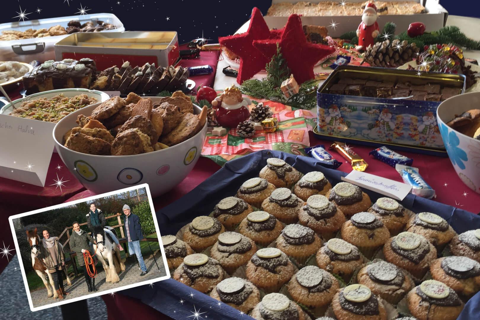 Multinationaler Weihnachtsbrunch mit kulinarischen Köstlichkeiten aus aller Welt